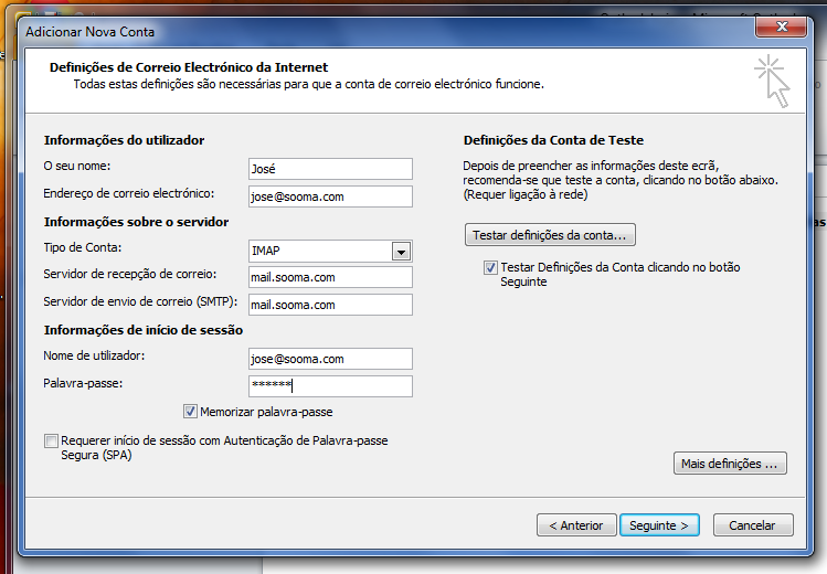Outlook 2010 - Email Profissional Portugalmail 5