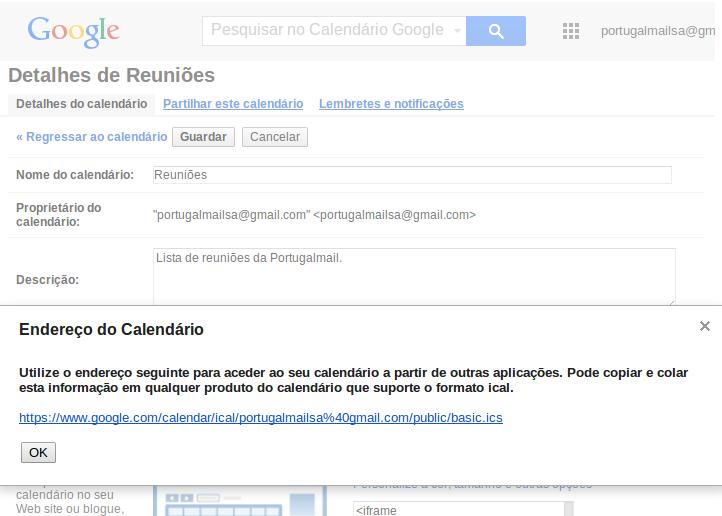 Importar Calendário do Google 5