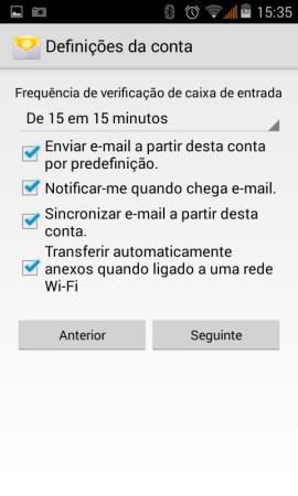 Configurar o e-mail em Android 6